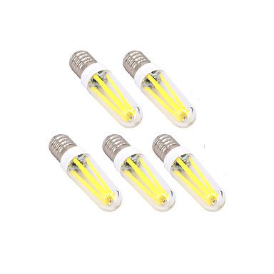 5pçs 4W 300lm E14 G9 Lâmpadas de Filamento de LED T Contas LED Regulável Branco Quente Branco Frio 220-240V
