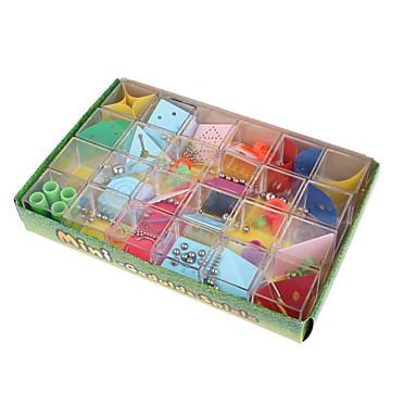 متاهة 3d لغز مربع ABS معدن 12pcs قطع للجنسين هدية