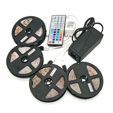 billige LED Strip Lamper-zdm 20m (4 * 5m) vanntett 96w 1200leds 2835 rgb strip fleksibel lys 44key ir fjernkontroll 8a strømforsyning ac110-240v