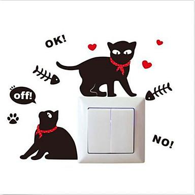 Tiere Menschen Wand-Sticker Flugzeug-Wand Sticker Lichtschalter Sticker, Vinyl Haus Dekoration Wandtattoo Schalter
