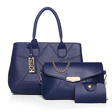 Damen Taschen PU Andere Lederart 3 Stück Geldbörse Set für Normal Winter Blau Schwarz Rote Grau Purpur
