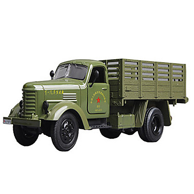 Veículo Militar Caminhão de transporte militar Caminhões & Veículos de Construção Civil Carros de Brinquedo Modelo de Automóvel 1:64