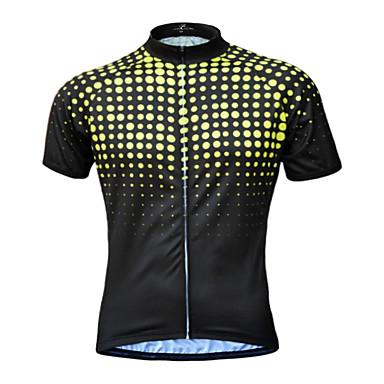 JESOCYCLING Homens Manga Curta Camisa para Ciclismo - Verde / Amarelo / Azul Moto Camisa / Roupas Para Esporte, Secagem Rápida, Respirável, Resistente a UV / Com Stretch / Redutor de Suor
