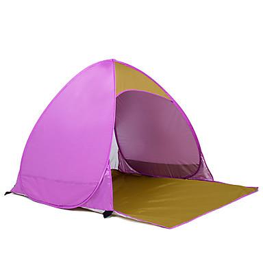 2 사람 텐트 싱글 자동 텐트 방수 휴대용 2000-3000 mm 용 하이킹 캠핑 CM 투 룸 옥스포드