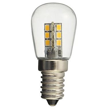 hkv® led-lamppu e14 1w 2835smd 24-lasinen sävy 360 asteen kulma valaistus lämmin kylmä valkoinen ompelukoneen jääkaappiin
