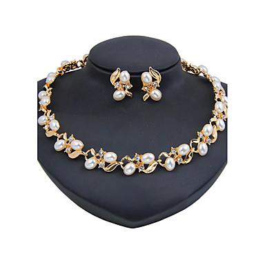 Mulheres Imitação de Pérola Imitação de Pérola Conjunto de jóias 1 Colar 1 Par de Brincos - Clássico Vintage Euramerican Fashion Outros