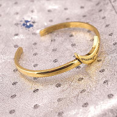 abordables Bracelet-Manchettes Bracelets Femme Lune Rétro Vintage Mode Bracelet Bijoux Dorée Argent pour Soirée Occasion spéciale