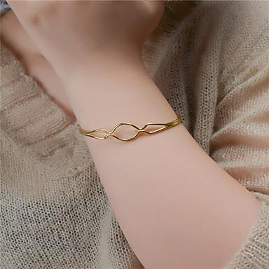 abordables Bracelet-Manchettes Bracelets Femme Mode Bracelet Bijoux Dorée Argent Forme Géométrique pour Soirée Occasion spéciale