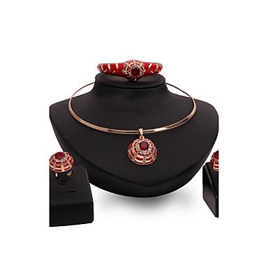 Dámské Sady šperků S kamínkama imitace drahokamu Přizpůsobeno Vintage Módní Euramerican Velké šperky Svatební Párty Zvláštní příležitosti