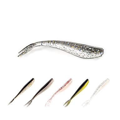 12 pcs Iscas Isco Suave / Amostras moles / Shad Plástico Suave Pesca de Mar / Rotação / Pesca de Gancho / Pesca de Água Doce / Pesca Baixa / Pesca de Isco / Pesca Geral