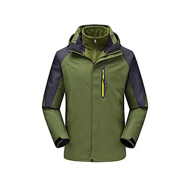 Herrn 3-in-1 Jacken Außen Winter Wasserdicht warm halten Windundurchlässig Fleece Innenfutter Regendicht tragbar Atmungsaktiv Schneefest
