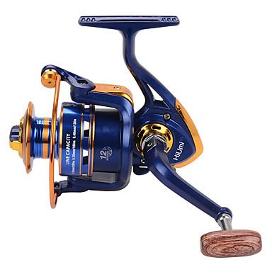 Molinetes de Pesca Molinetes Rotativos 5.21 Relação de Engrenagem+12 Rolamentos Orientação da mão Trocável Isco de Arremesso Pesca no