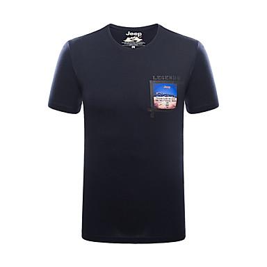Homens Camiseta de Trilha Ao ar livre Respirável Camiseta Blusas Pesca