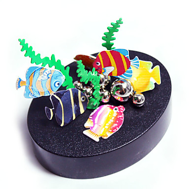 1 pcs ألعاب المغناطيس نماذج العرض التعليمية أحجار البناء تركيب معدني إبداعي مغناطيس اصنع بنفسك سمك للبالغين صبيان فتيات ألعاب هدية