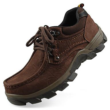 Homens Sapatos formais Pele Outono / Inverno Oxfords Preto / Castanho Claro / Festas & Noite