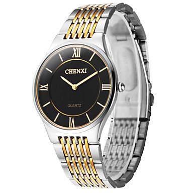 CHENXI® Herrn Armbanduhr Armbanduhren für den Alltag Edelstahl Band Charme Silber