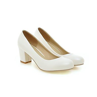 Damen Schuhe PU Frühling / Sommer Komfort High Heels Blockabsatz Rot / Blau / Rosa / Kleid