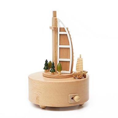 Music Box Hračky Roztomilý Kulatý Kolotoč Veselé kolo Burj Al Arab Dřevo Pieces Unisex Dárek