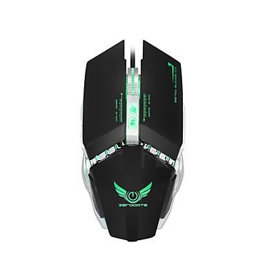 ZERODATE Mit Kabel Gaming Mouse DPI Adjustable Hinterleuchtet Programmierbar 1200/1600/2000/2400/3200