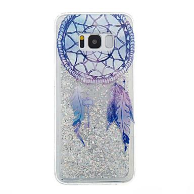 Capinha Para Samsung Galaxy S8 Plus S8 Liquido Flutuante Transparente Estampada Capa traseira Transparente Glitter Brilhante Apanhador de