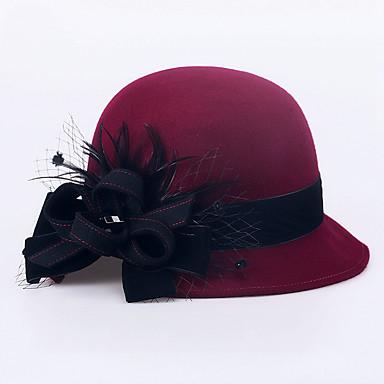صوف قبعات / أغطية الرأس مع ورد 1PC زفاف / مناسبة خاصة / فضفاض خوذة