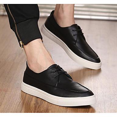 Herren Schuhe Leder Frühling Komfort Sneakers Für Normal Weiß Schwarz Rot
