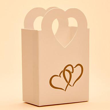 Rund Kvadrat Hjerte Kort Papir Gave Til Gæster Holder med Printer Yndlingsæsker Gavebokse Slikkrukker og Flasker