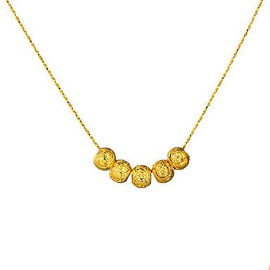 Homens Mulheres Colares em Corrente - Circular Original Vintage Bola Dourado Colar Para Festa Ocasião Especial Noivado Presente Diário