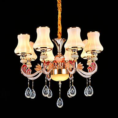 Kristall Ministil Pendelleuchten Deckenfluter Für Schlafzimmer Esszimmer Korridor 110-120V 220-240V Glühbirne nicht inklusive