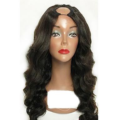 Aidot hiukset Lace Peruukki Runsaat laineet 100% käsinsidottu Afro-amerikkalainen peruukki Luonnollinen hiusviiva 130% Tiheys Musta Lyhyt