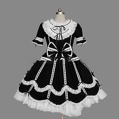 Gothic Lolita Princeznovské Dámské Dívčí Šaty Cosplay Košíček Krátký rukáv Krátký / Mini