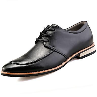 Homens sapatos Couro Ecológico Primavera Outono Sapatos formais Oxfords para Casual Escritório e Carreira Preto Amarelo