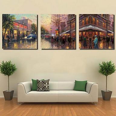 Reprodukce umění Krajina Moderní,Tři panely Horizontální Grafika Wall Decor For Home dekorace