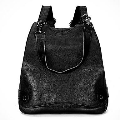 Női Táskák Bőr hátizsák mert Sport / Előírásos / Utazás Fekete