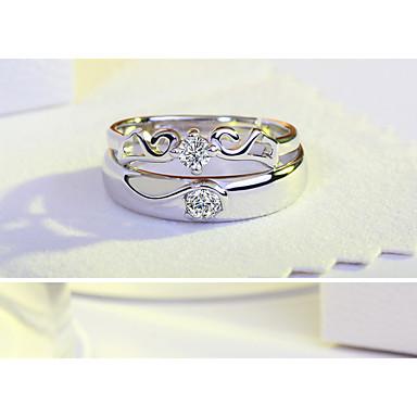 Damen Verlobungsring Ring Kubikzirkonia Silber Achat Kubikzirkonia Silber Kreisförmig Flügel Elegant Modisch Simple Style Hochzeit Party