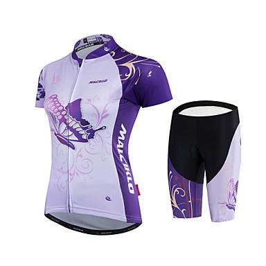 Malciklo Dámské Cyklodres a kraťasy - Bílá Černá Jezdit na kole Sady oblečení Polyester