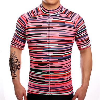 SUREA Pánské Krátký rukáv Cyklodres Jezdit na kole Dres, Rychleschnoucí, Prodyšné, Ter Emen Coolmax® / Lycra