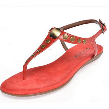 Naiset Kengät PU Kevät Comfort Sandaalit Käyttötarkoitus Kausaliteetti Pinkki