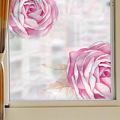 Filme de Janelas e Adesivos Decoração Moderna Floral PVC / Vinil Adesivo de Janela / Sala de Jantar / Quarto / Escritório / Sala de Estar