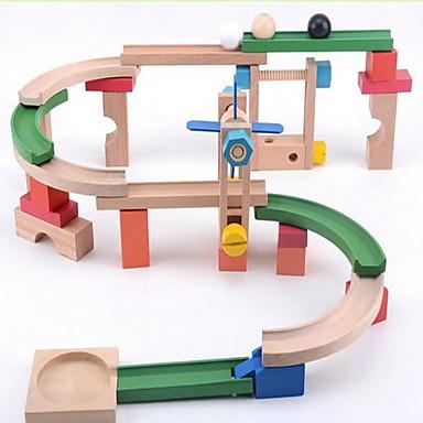 Sady mramorových stop Hračky 3D Dřevo Dětské Pieces