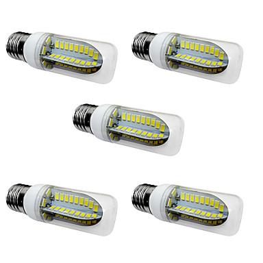 5W E27 LED-maissilamput T 80 LEDit SMD 5730 Lämmin valkoinen Valkoinen 1000