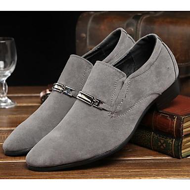 Miehet Kengät Nupukkinahka Mokkanahka Kevät Comfort häät Kengät Käyttötarkoitus Häät Kausaliteetti Musta Harmaa