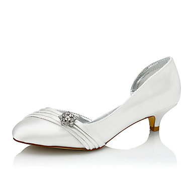 Women's Shoes Silk Spring / Fall Comfort Wedding Shoes Low Heel Round Toe / Closed Toe Sparkling Glitter Ivory / Party & Evening