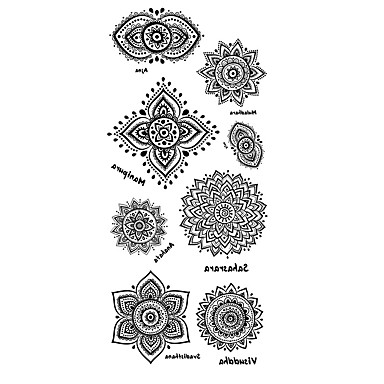 Pattern / Lower Back / Waterproof Hand / Arm / Wrist Temporary Tattoos 1 pcs Totem Series Body Arts