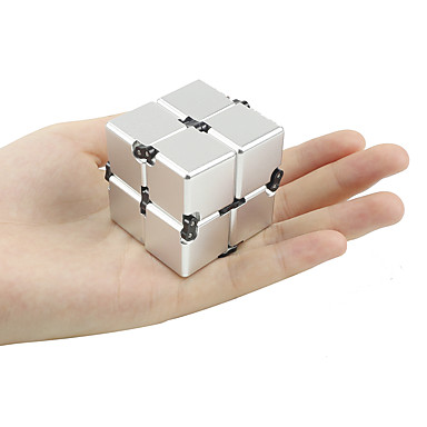 Cubo Infinito / Spinners de mão / Brinquedos Antiestresse Por matar o tempo / O stress e ansiedade alívio / Brinquedo foco Inovador Metalic / cromada Peças Unisexo Crianças / Adulto Dom