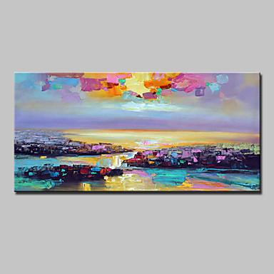 Hang-Ölgemälde Handgemalte - Landschaft Modern Segeltuch