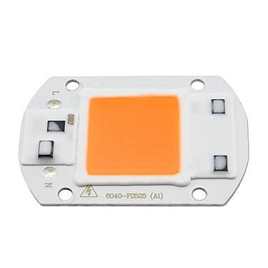 30w real full spectrum indoor em vez de luz solar diy led cresce light chip ac 110v ou ac220v para flores de plantas (1 peça)