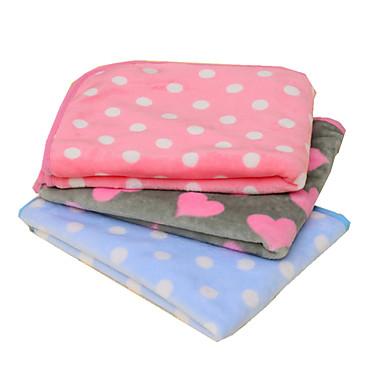 Gato Cachorro Camas Animais de Estimação Mantas Sólido Poá Manter Quente Dobrável Macio Roxo Azul Rosa claro