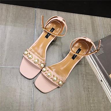 Naiset Kengät PU Kesä Comfort Sandaalit Käyttötarkoitus Kausaliteetti Musta Pinkki