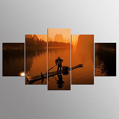 Pingoitetut kanvasprintit 5 paneeli Horizontal Painettu Wall Decor For Kodinsisustus